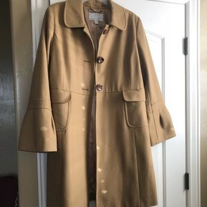 Tan Dress coat Old Navy with Bell Sleeves Sz L